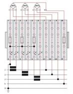 Antrinių matavimo grandinių bandymo gnybtynų blokas